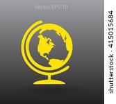 flat globe icon. | Shutterstock .eps vector #415015684