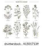 vector hand drawn collection of ... | Shutterstock .eps vector #415017139