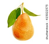 one ripe juicy pear isolated....   Shutterstock . vector #415022575