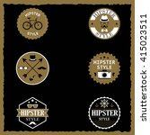 set of labels of the hipster... | Shutterstock .eps vector #415023511