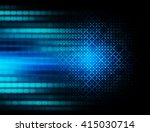 blue abstract hi speed internet ... | Shutterstock . vector #415030714
