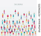creative people icon vector... | Shutterstock .eps vector #415036201