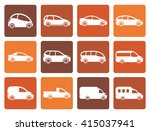 flat different types of cars... | Shutterstock .eps vector #415037941