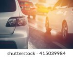 traffic jam with rows of cars... | Shutterstock . vector #415039984