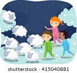 stickman illustration of kids... | Shutterstock .eps vector #415040881