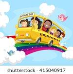 stickman illustration of kids... | Shutterstock .eps vector #415040917