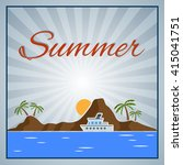 summer background with palm... | Shutterstock .eps vector #415041751