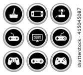 video game icons silver icon set | Shutterstock .eps vector #415045087