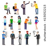 vector detailed characters... | Shutterstock .eps vector #415052215