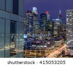 philadelphia skyline | Shutterstock . vector #415053205