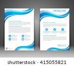 brochure flyer design layout... | Shutterstock .eps vector #415055821