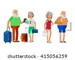 character senior  age travelers.... | Shutterstock .eps vector #415056259