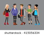 detailed character students ... | Shutterstock .eps vector #415056334