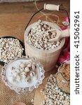 cooked millet seeds with milk...   Shutterstock . vector #415062961
