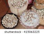 cooked millet seeds with milk...   Shutterstock . vector #415063225