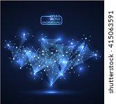 design technology network ... | Shutterstock .eps vector #415063591