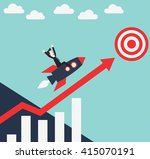 successful and smiling business ... | Shutterstock .eps vector #415070191