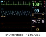 boy's ekg on oxygen while under ... | Shutterstock . vector #41507383