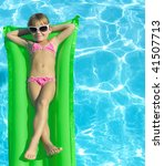 girl in the swimming pool in ... | Shutterstock . vector #41507713