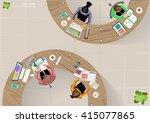 vector business work place top... | Shutterstock .eps vector #415077865