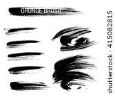 vector set of grunge brush... | Shutterstock .eps vector #415082815