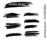 vector set of grunge brush... | Shutterstock .eps vector #415082884