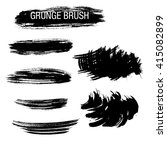 vector set of grunge brush... | Shutterstock .eps vector #415082899