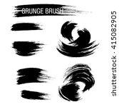 vector set of grunge brush... | Shutterstock .eps vector #415082905