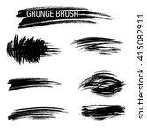vector set of grunge brush... | Shutterstock .eps vector #415082911