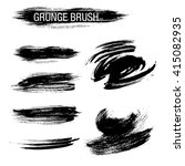 vector set of grunge brush... | Shutterstock .eps vector #415082935
