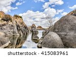photograph of a scenic granite... | Shutterstock . vector #415083961