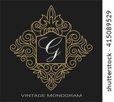vintage luxury emblem. business ... | Shutterstock .eps vector #415089529