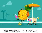 illustration of cartoon... | Shutterstock .eps vector #415094761