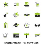 travel icon set for web sites... | Shutterstock .eps vector #415095985
