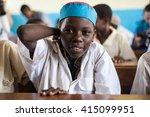 editorial use  boy at school in ... | Shutterstock . vector #415099951