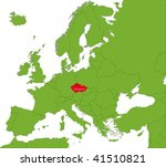 location of czech republic on... | Shutterstock .eps vector #41510821