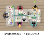 vector business work place top... | Shutterstock .eps vector #415108915