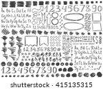 pencil doodles effect set....   Shutterstock .eps vector #415135315