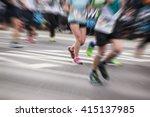 marathon runners  sport... | Shutterstock . vector #415137985