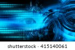 blue abstract hi speed internet ... | Shutterstock . vector #415140061