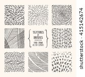 hand drawn textures and brushes.... | Shutterstock .eps vector #415142674