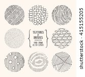 hand drawn textures and brushes.... | Shutterstock .eps vector #415155205