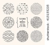 hand drawn textures and brushes.... | Shutterstock .eps vector #415155235