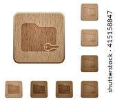 set of carved wooden secure...