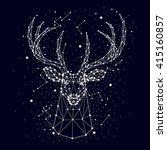 starry sky  constellation  deer | Shutterstock .eps vector #415160857