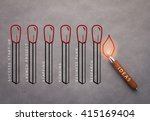 matches sketch and pencil on... | Shutterstock . vector #415169404