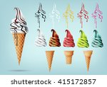 template colorful ice cream in... | Shutterstock .eps vector #415172857