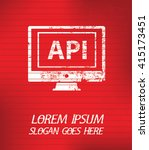 api on red background poster...