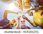 beach cheers celebration... | Shutterstock . vector #415181251