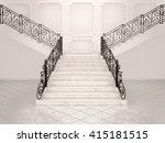 3d illustration of white marble ... | Shutterstock . vector #415181515